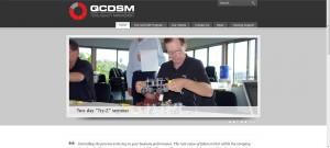 QCDSM Lean Management System Website Screenshot